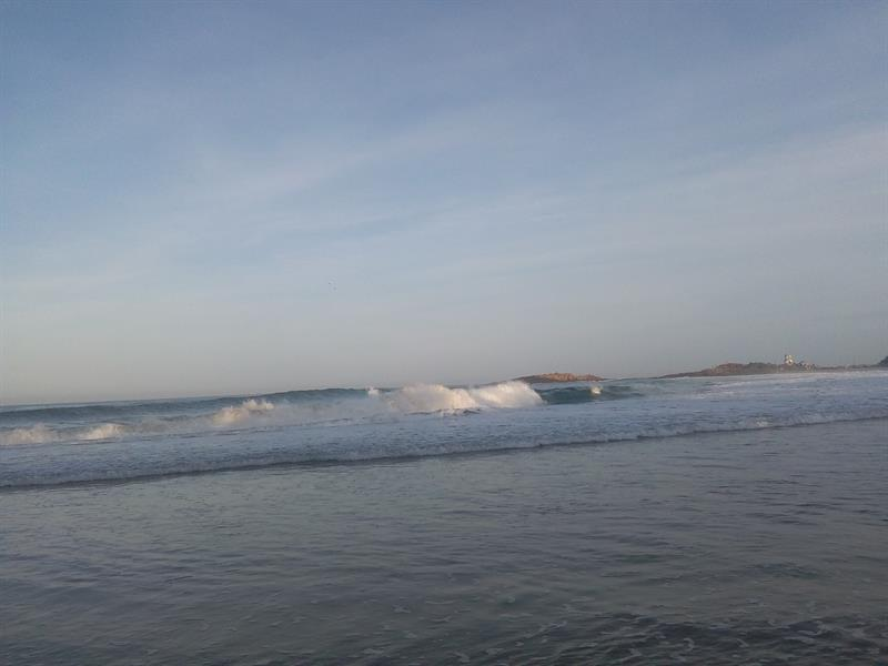 Wave from sea, Kollam Beach