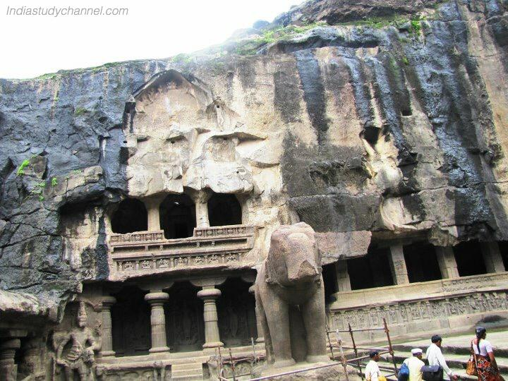 Picture taken inside the ellora caves
