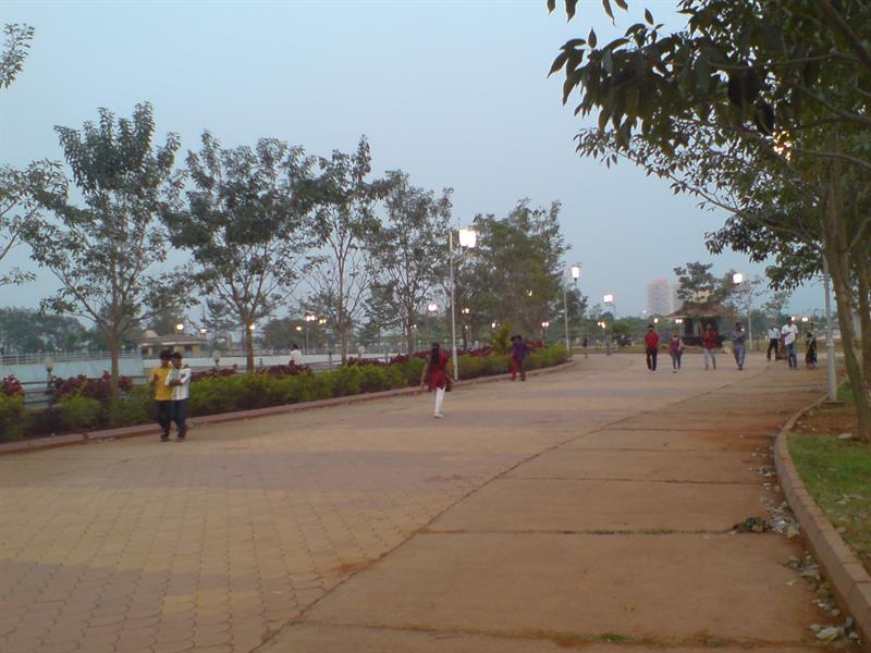 Kharghar Central Park in the evening