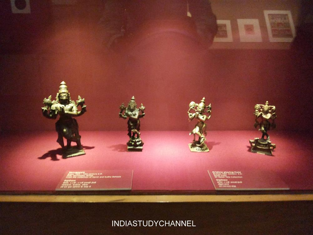 Bronze Venu Gopala Statues of 16th Century  as seen in Chhatrapati Shivaji Museum, Mumbai