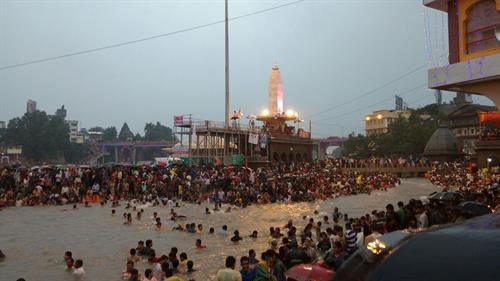 Shahi snan at Ramkund during Mahakumbh in Nasik