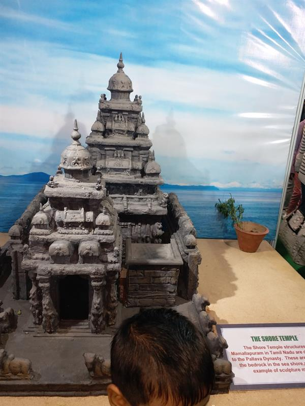 Model of Shore temple in 37th IITF-2017