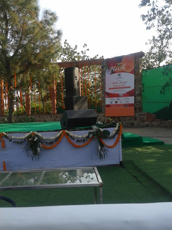 Stage use for culture activities in flower festival -Saket