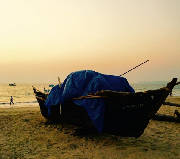 A still image captured of the fishermans boat on beach