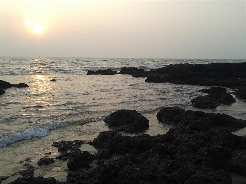 beautiful  view of Arabian Sea , Goa