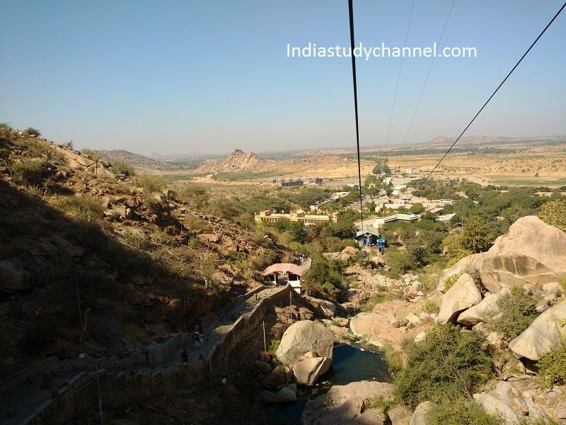 View from the top of rope way to Sundha mata, Bhinmal, Jalore