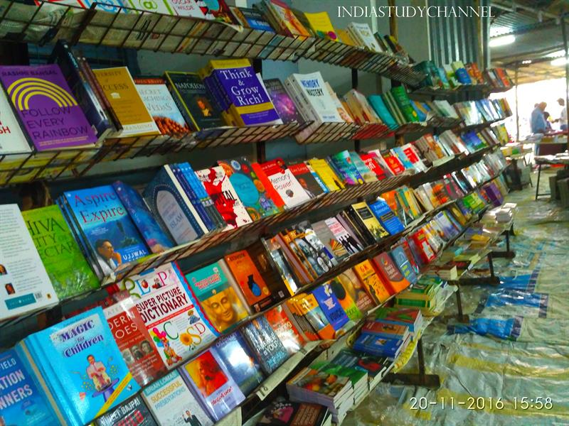 Visalandhra Books exhibition conducted at Andhra Lutheran College, Guntur, A.P.