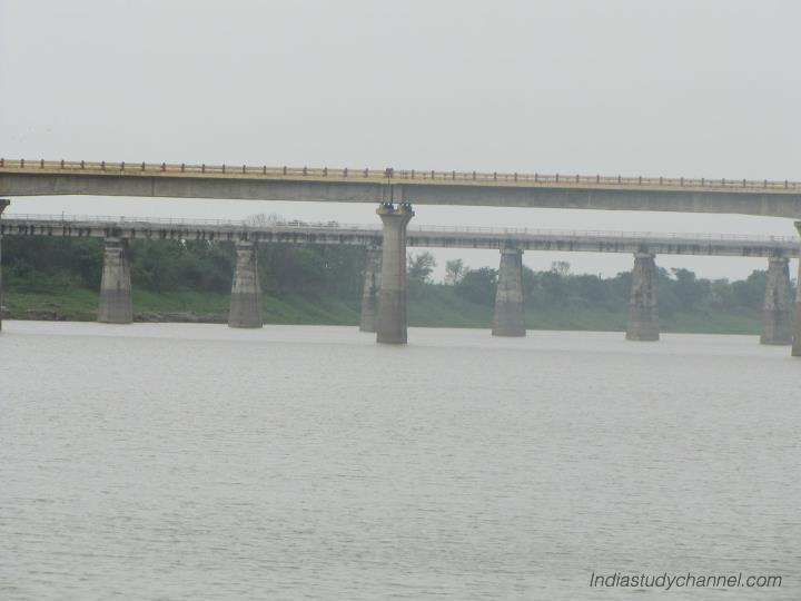 Basara bridge across the godavari river