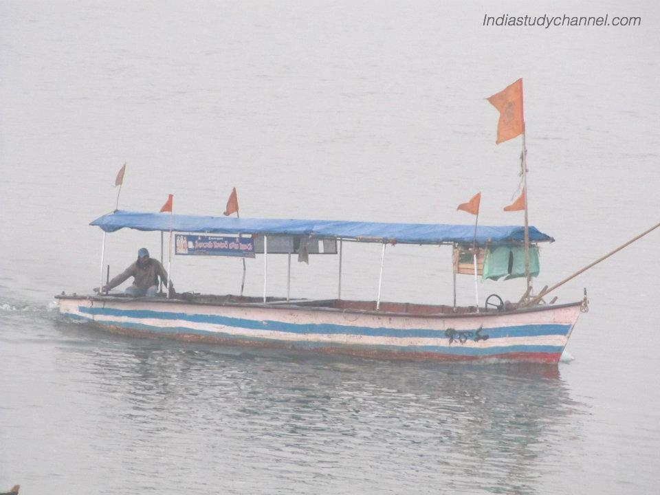 Ship in godavari river in Bhadrachalam