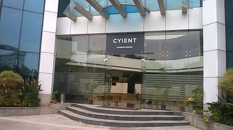 The main entrance of CYIENT campus,Hyderabad