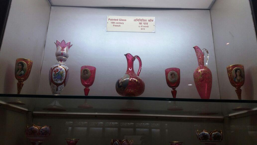 Salar Jung Museum-French Painted Glassware of 19th Century, Hyderabad, Telangana, India