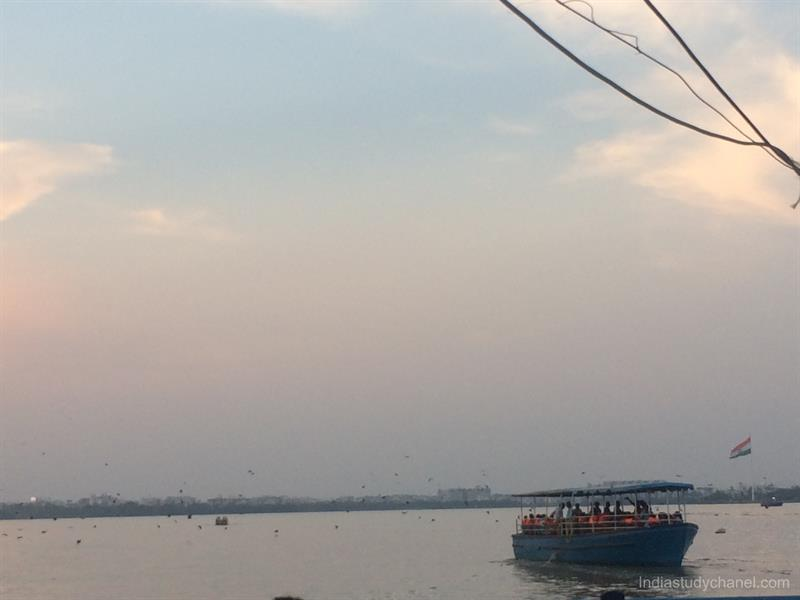 Boating in Hussain Sagar, Khairatabad, Hyderabad