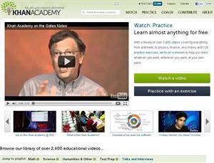 Khanacademy website