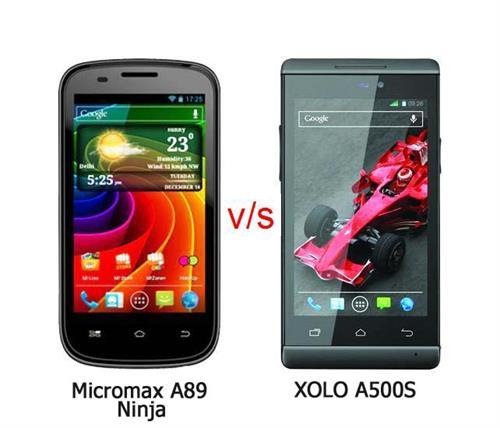 Xolo A500S vs Micromax A89 Ninja