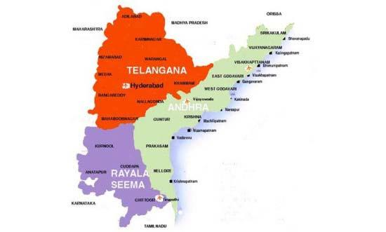 New Talengana Map with district boundaries