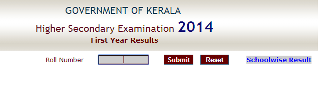 Kerala HSE plus one (+1) results 2014 announced