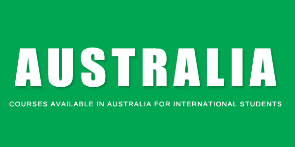 courses available in Australia for International Students