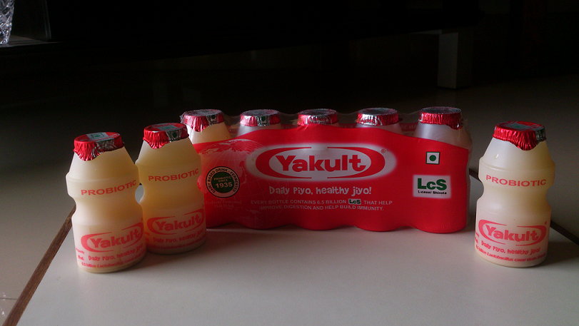 Yakult probiotic is a healthy drink for the stomach