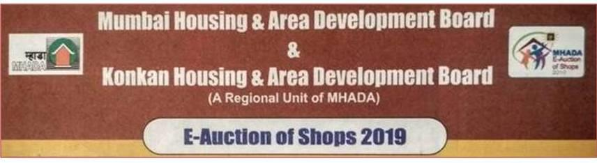 2019 MHADA E Auction of Shops Banner
