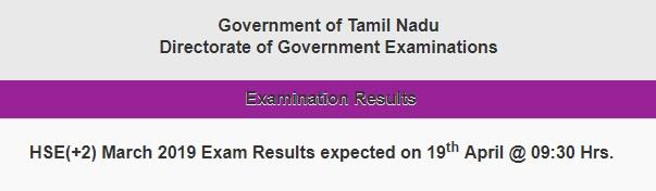 TN 12th exam result 2019