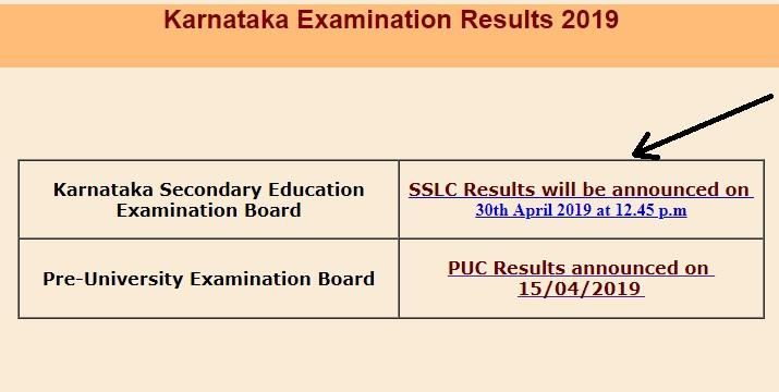 Karnataka SSC 10th Exam Result 2019