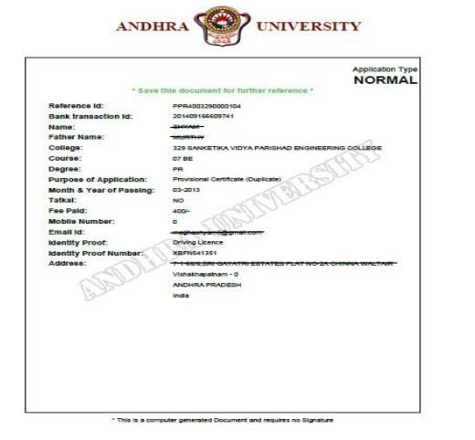 Getting another copy of provisional certificate from a university?
