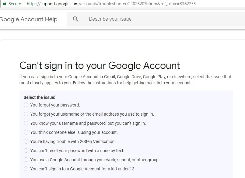 Inability to access gmail account only from a laptop