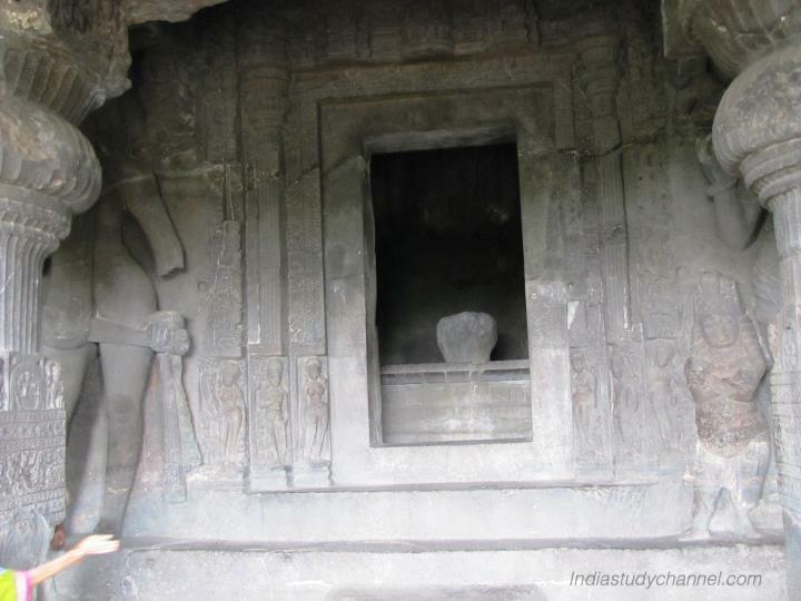 Lord shiva statue in one of the caves in ellora