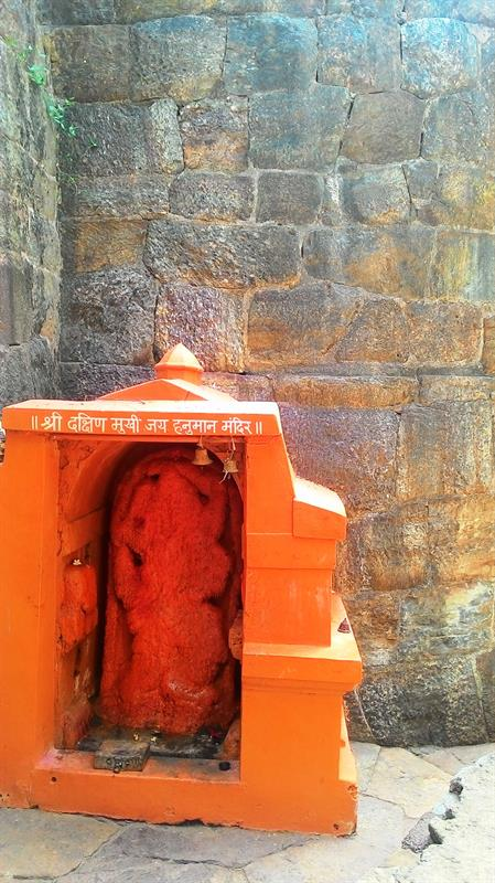 Hanuman Temple at the entrance of the fort