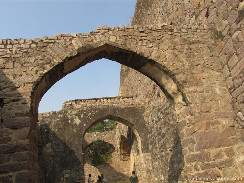 Stone Arch Ruins of Golconda Fort