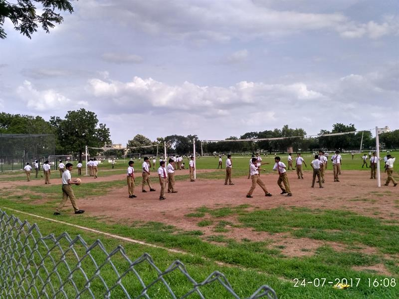 Volley Ball Courts in Loyola Public School, Loyola nagar, Guntur, A.P.