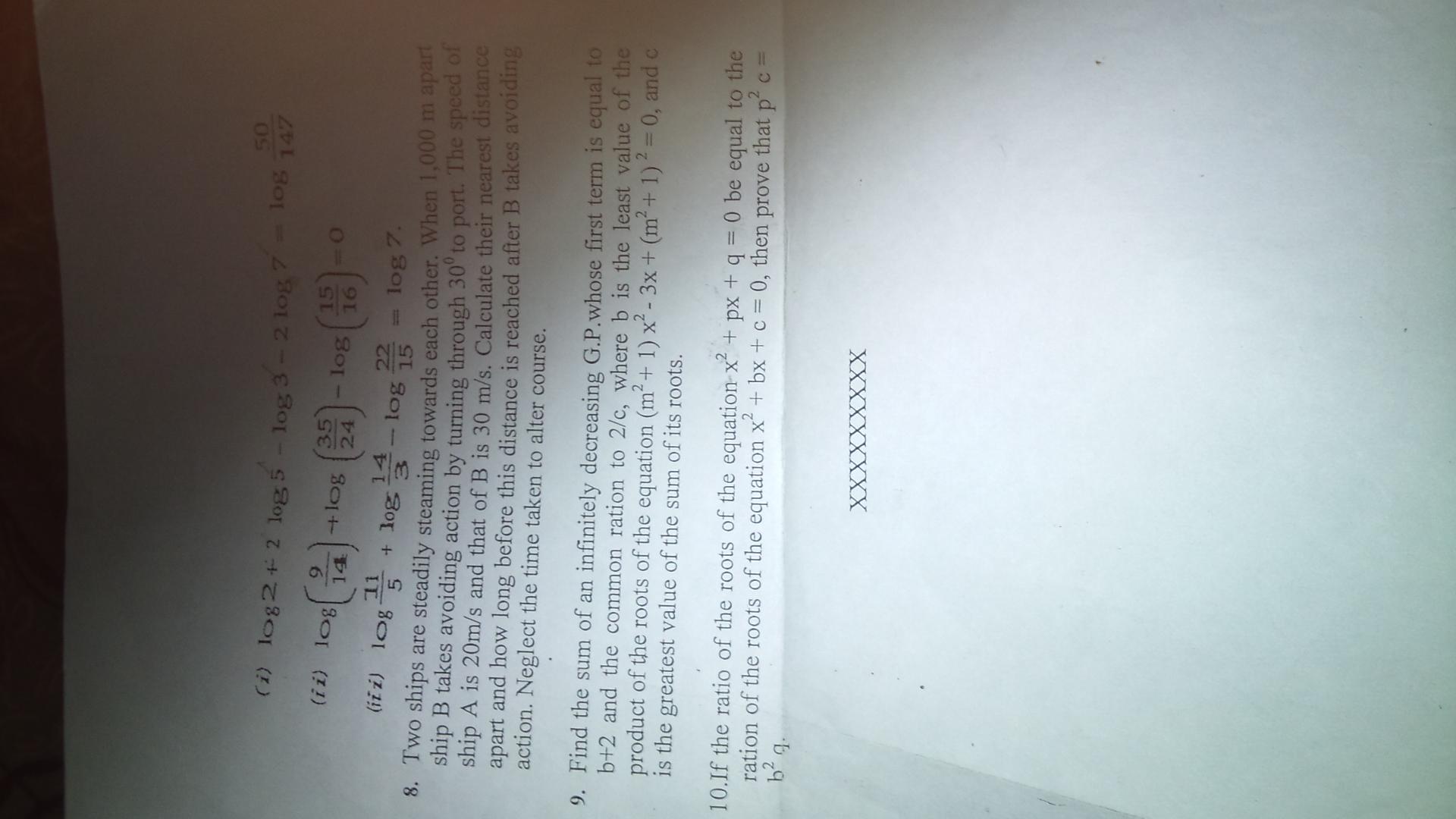 Vels University M E O Class 4 EXAMINATION OF MARINE ENGINEER