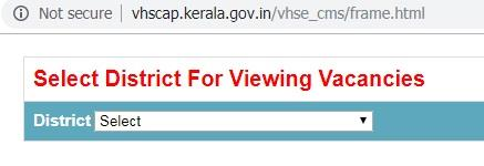 Kerala Plus one (+1) VHSCAP 2019 vacancy transfer allotment result