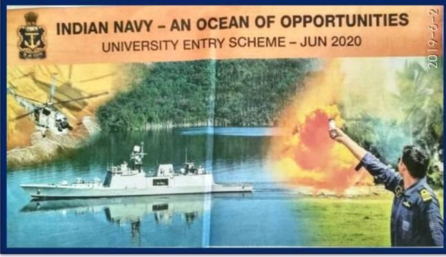 Indian Navy UES course 2020 advertisement