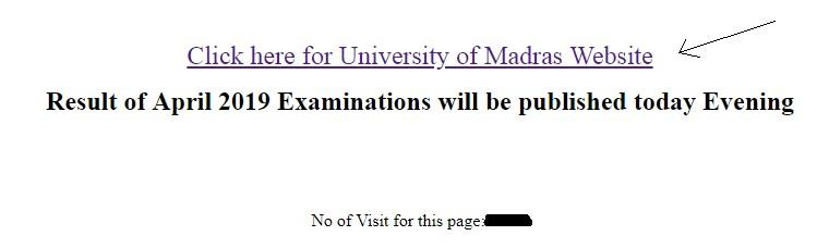 Madras University exam results 2019 UG PG declared