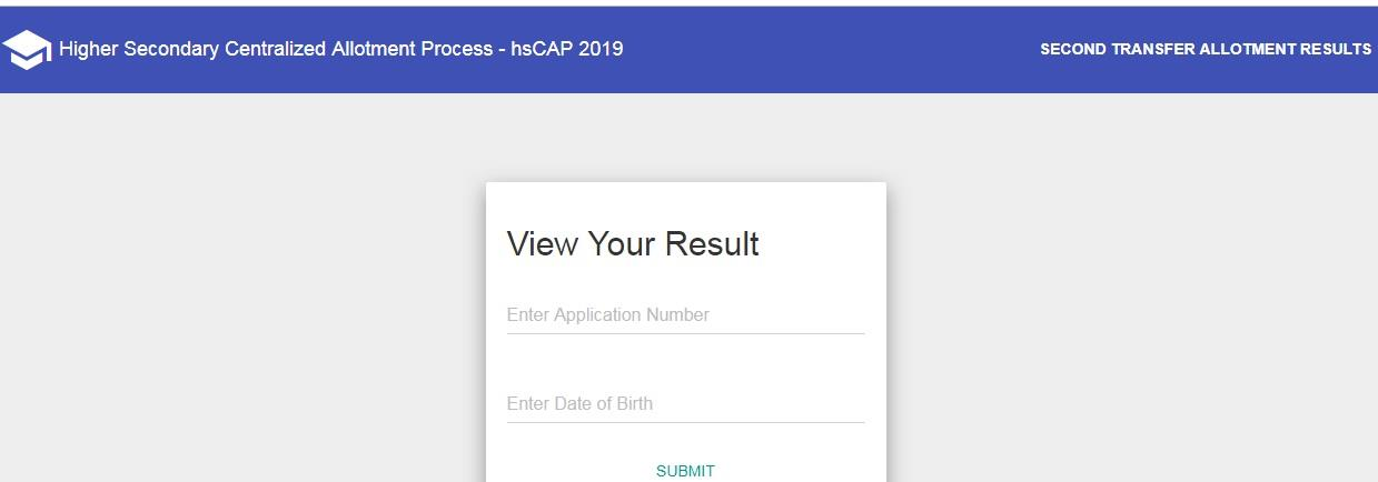Kerala Plus one HSCAP 2019 Combination Transfer Allotment Results Published