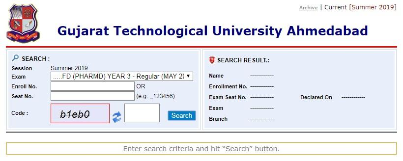 GT University Diploma Degree 2019 exam results announced