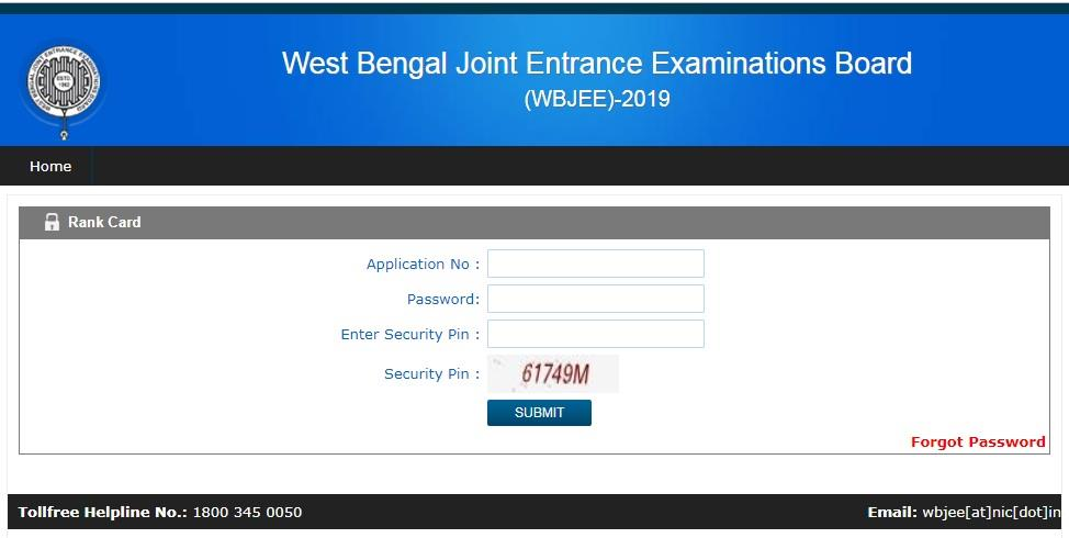 West Bengal JEE 2019 rank card results announcement