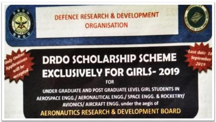 DRDO Scholarships for Girls Banner