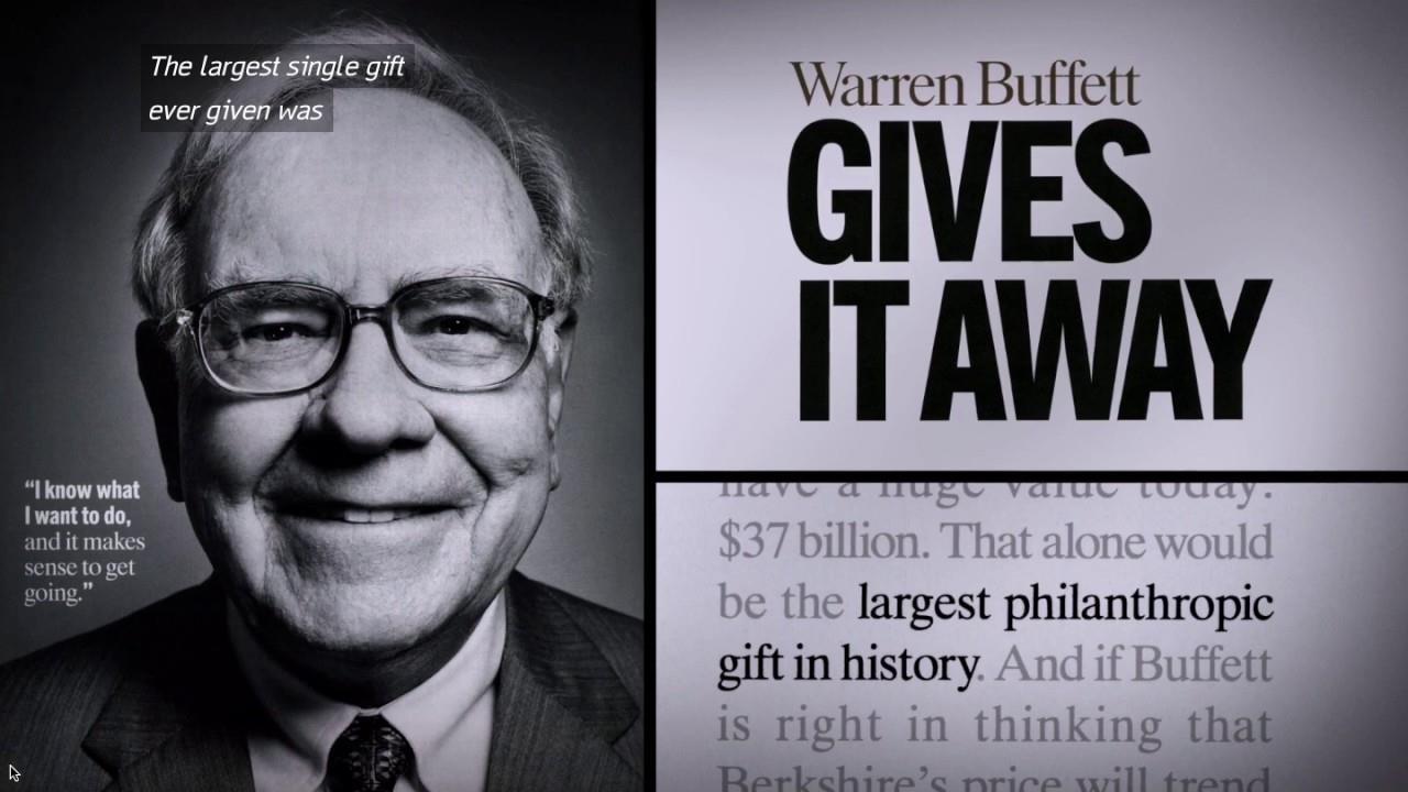 Warren Buffett and his philanthropy