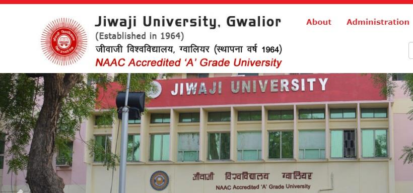 Jiwaji University UG PG Exam results 2019 published online