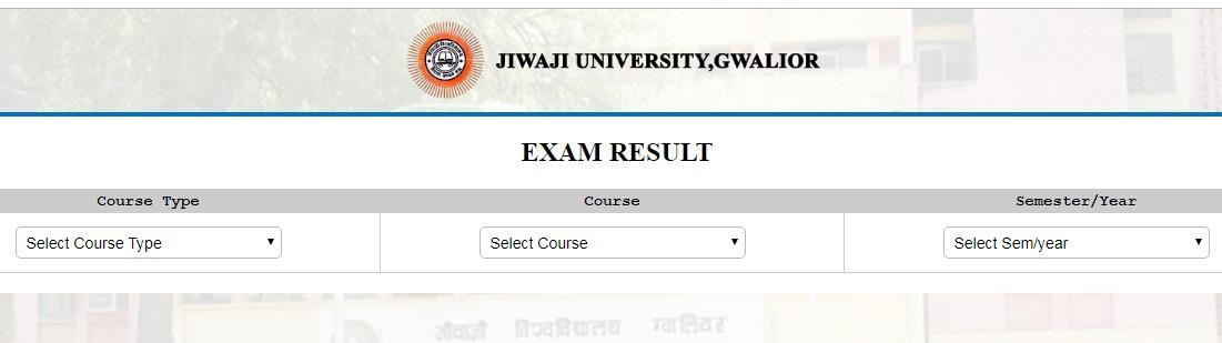 Jiwaji University UG PG 2019 Exam results declared online