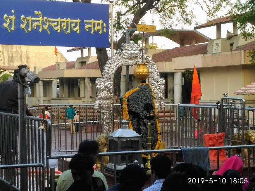 Lord Shani Dev in Shani shingnapur, Maharashtra