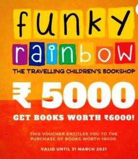 Funky Rainbow Book Vouchers