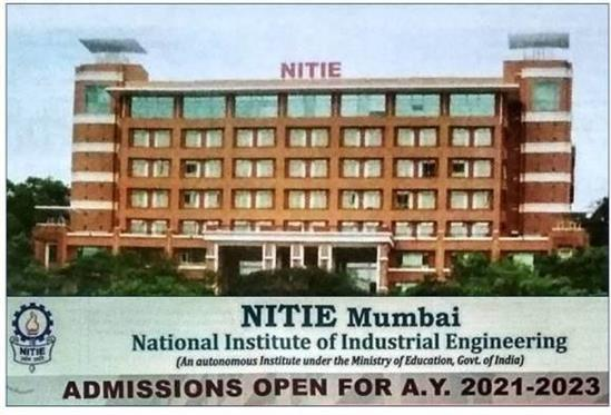 NITIE Mumbai Admissions Notification Banner
